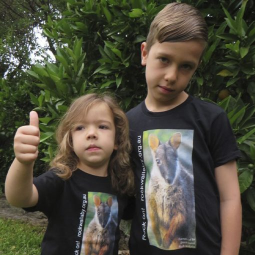 Brush-tailed Rock-wallaby - Kids T-shirt